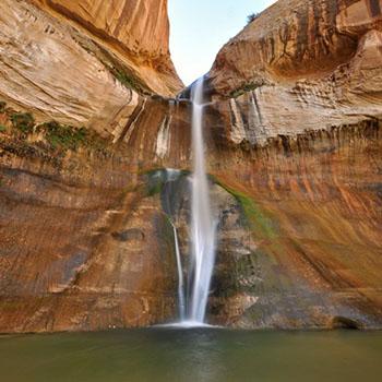 USA Reise - Calf Creek Trail und Wasserfall