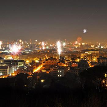 Feuerwerk an Silvester in Rom