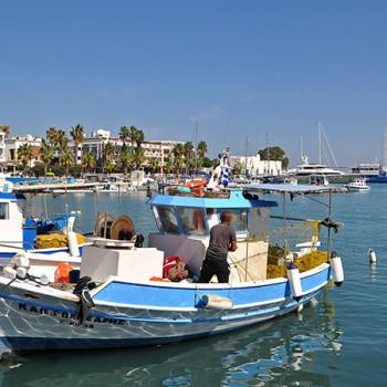 Fischer im Hafen von Kos