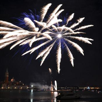 Silvesterfeuerwerk in Venedig