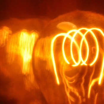 Glühbirne mit Wolframdraht