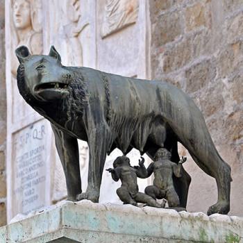 Rom Gründer Romulus und Remus mit Wolfsmutter