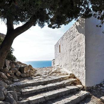 Mediterrane Szene auf Rhodos