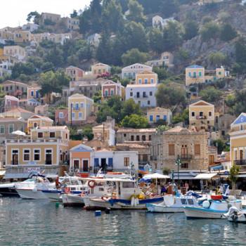 Schöne griechische Insel Symi