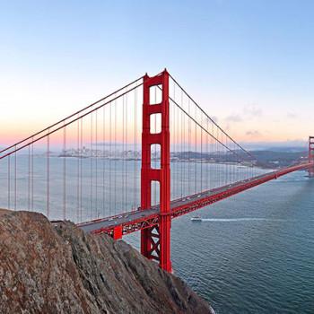 Golden Gate Bridge mit Sonnenuntergang