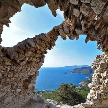 Steingewölbe einer griechischen Kapelle