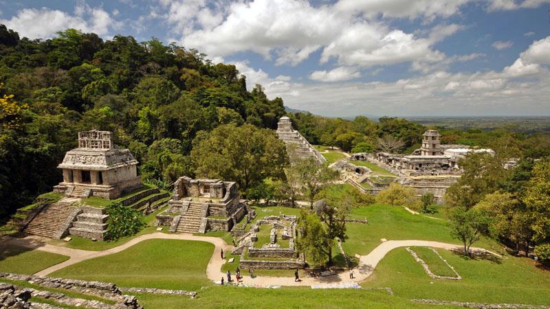 Tempel in Palenque Mexiko