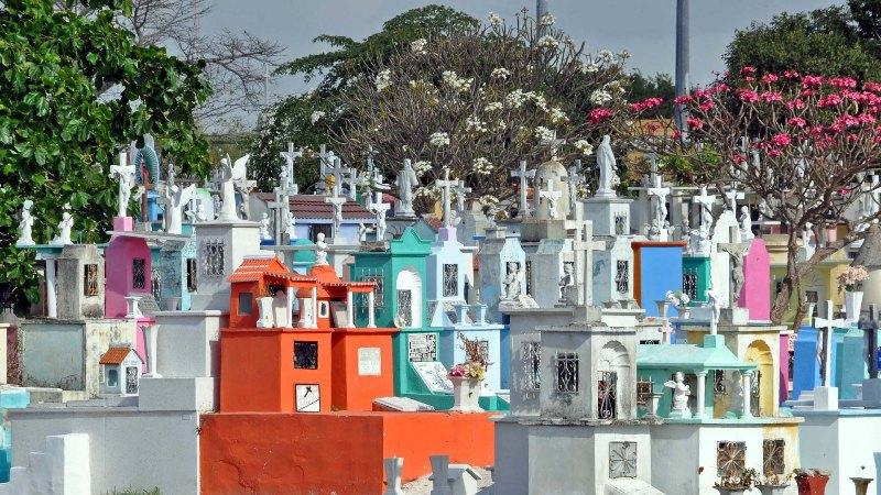 Bunter Mexikanischer Friedhof