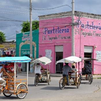 Typische mexikanische Kleinstadt