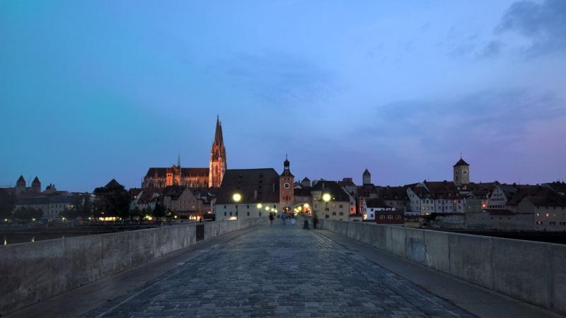Skyline Regensburg mit Dom