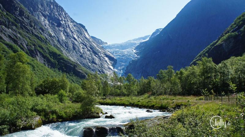 Briksdal Gletscher in Norwegen