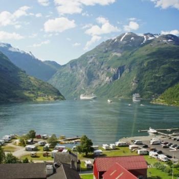 Mit der AIDA am Geirangerfjord