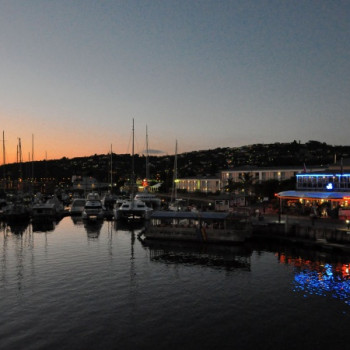 Sonnenuntergang im Hafen von Knysna