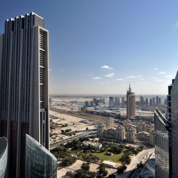 Aussicht auf die Skyline von Dubai