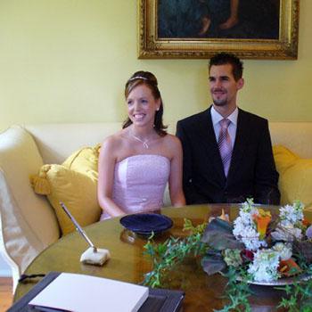Standesamtliche Hochzeit von Ina und Jally im Fürstenlager Bensheim
