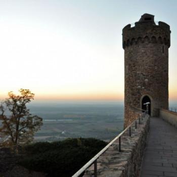 Sonnenuntergang Schloss Auerbach Hessen
