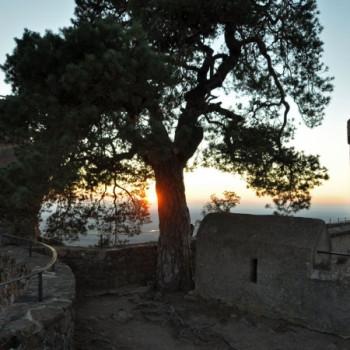 Sonnenuntergang Schloss Auerbach