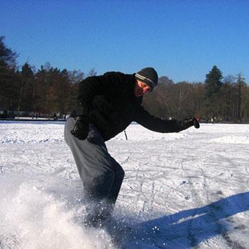 Eislaufen am Steinbrücker Teich - Oberwaldhaus Darmstadt