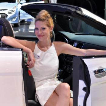 Model auf der IAA Frankfurt - Fiat