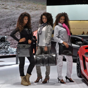 Models auf der IAA Frankfurt - Lamborghini