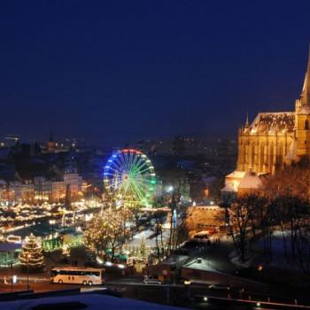 Weihnachtsmarkt in Erfurt bei Nacht