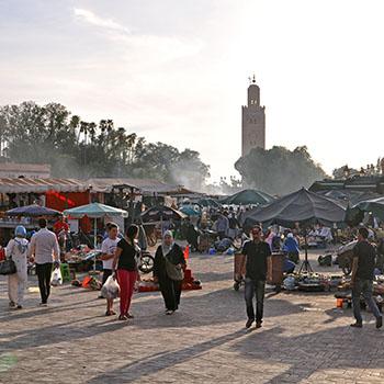 Fotos aus der Altstadt von Marrakesch - Place Djemaa el Fna