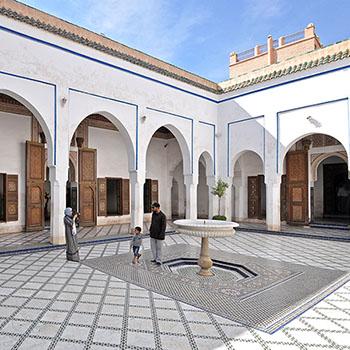 Innenhof des Palais de la Bahia in Marrakesch