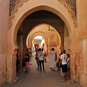 Fotos aus der Altstadt von Marrakesch - Medersa Ben Youssef