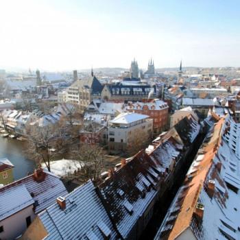 Aussicht über die Dächer von Erfurt