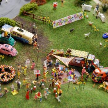 Modelleisenbahn im Miniatur-Wunderland Hamburg