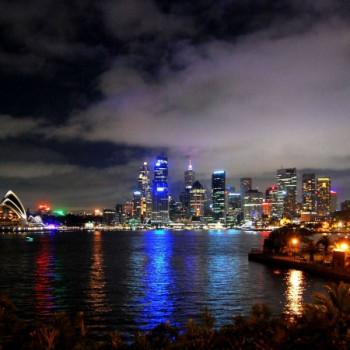 Sydney Hafen mit Brücke bei Nacht Wallpaper