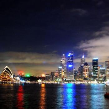 Sydney Harbour bei Nacht Wallpaper