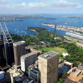 Aussicht vom AMP Tower in Sydney