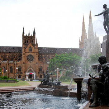 Archibald Fountain in Sydney im Hyde Park