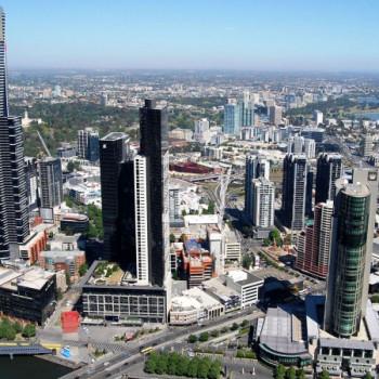 Melbourne Aussicht von den Rialto Towers