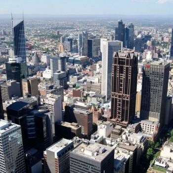 Aussicht vom Rialto Tower in Melbourne
