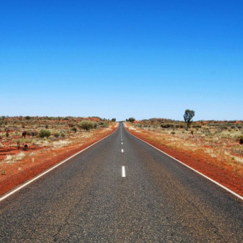 Outback Road in Australia