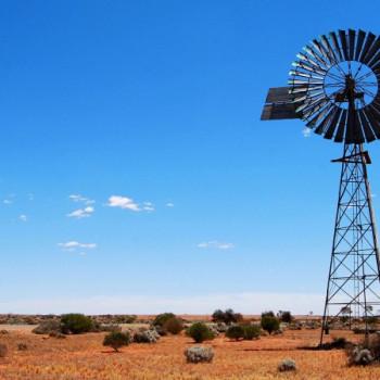 Windmühle als Wasserpumpe in Australien